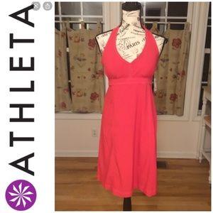 Athleta Pack Everything Dress Grenadine Red/ Pink